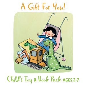 Share Christmas with a Toy & Book Pack for a 3-7 Year Old Child